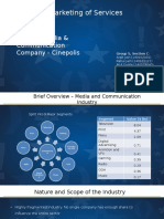 Media and Communication Services Industry in India. Report on Cinepolis