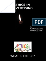 Ethics in Advertising in Pakistan