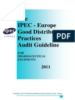 IPEC Europe GDP Audit Guide - Revision 2011 Final
