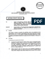 National Budget Circular No. 562 - Implementation of the First Trance Compensation Adjustment for Civilian Personnel, And Military and Uniformed Personnel in the National Government