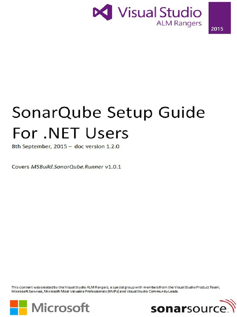 SonarQube Setup Guide for Net Users v 1 2 0 | Java Virtual Machine