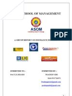 Project  Report on Insurance Industries