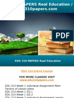 EDU 310 PAPERS Real Education - Edu310papers.com