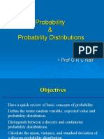 Probability & Prob Distributions