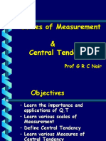 Scales & Central Tendecy