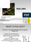 Manufacturing Technology - Rollingpresentation
