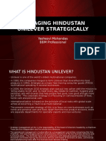 Managing Hindustan Unilever Strategically