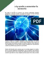 BrainPlus iq ayuda a aumentar la memoria