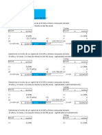 Ejercicios IEjercicios Interés Compuesto para NEOMLS.xlsxnterés Compuesto Para NEOMLS