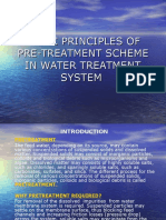 Basic Principles of Pre-treatment Scheme in Water Treatment System