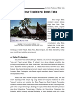 Arsitektur Tradisional Batak Toba