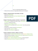 Practice Test Organisational Psychology