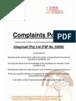 Complaints Manual