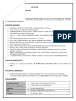DYNAMICS AX SAMPLE RESUME