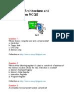 Computer Architecture and Organization MCQS