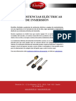 Las Resistencias Eléctricas de Inmersión - Validada