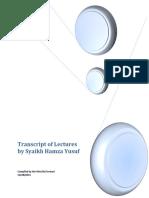 Lectures by Syaikh Hamza Yusuf