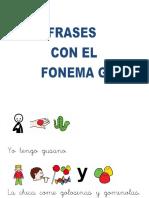 Frases Fonema g