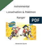 game analysis paper - environmental conservation and pokemon ranger