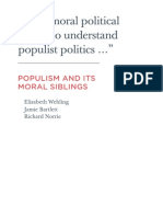 Wehling, E. Et Al. (2015). Populism and Its Moral Siblings. Demos, London.