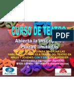 cartel Curso Teatro Escuela de Actores de Canarias - ASPERCAN-asperger