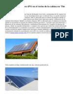 Paneles fotovoltaicos (PV) en el techo de la cabina en 'The viaje Tortoise'