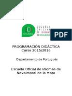 Programacion Portugues 2015 2016