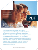 Enhancing the Transfer of Learning