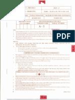 Karnataka CET 2012 Question Paper (Original) (Key)