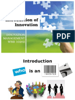 Introduction - Innovation Management