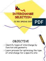 Interchange Selection
