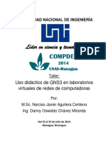 Instalación y Configuración de GNS3 y Una r Ed de Ejemplo