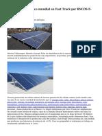 Mercado fotovoltaico mundial en Fast Track por RNCOS E-Services Pvt. Ltd.