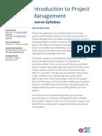 Syllabus proyectos