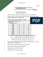 9AHS701 Management Science SET2