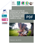 The criminalization of human rights defenders in the context of industrial projects