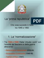 Italia Da Dopoguerra a Tangentopoli