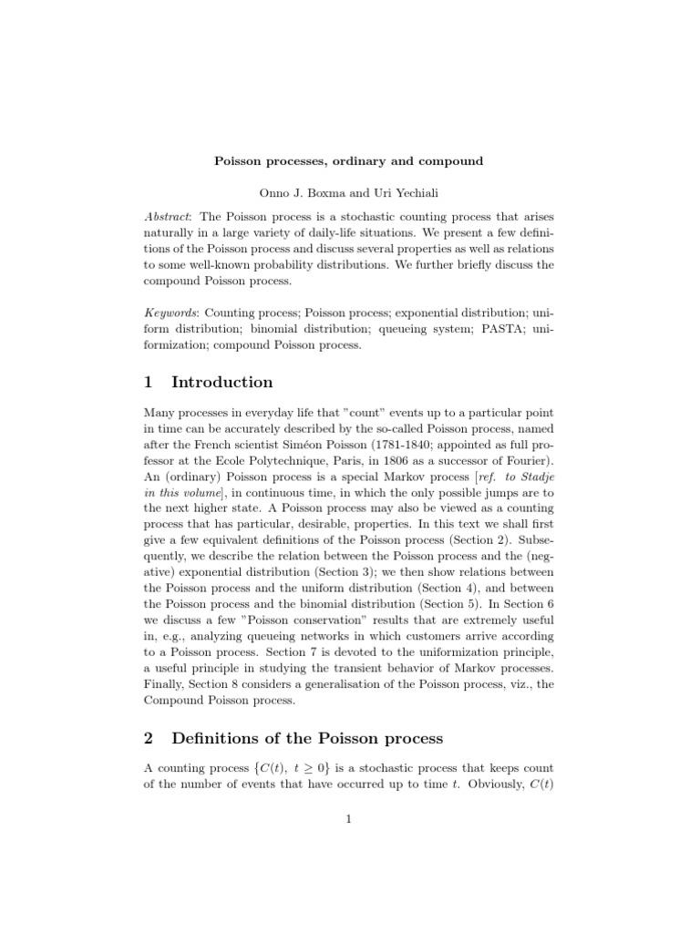 compound poisson process pdf | Stochastic Process | Markov Chain