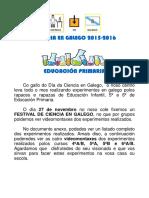 Ciencia en Galego Educacion Primaria
