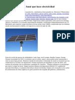 Windows solar - un fum? que hace electricidad