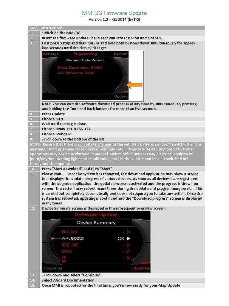 MMI 3G Firmware-Update