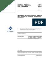 NTC 5666_Programas de Formacion en El Trabajo en Sisitemas Informaticos