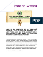 Manifiesto de La Tribu (1)