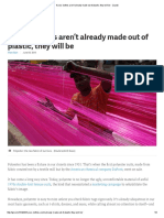 If Your Clothes Aren't Already Made Out of Plastic, They Will Be - Quartz