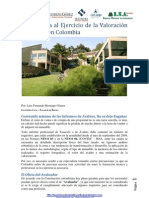 Una Mirada al Ejercicio de la Valoración de Bienes en Colombia
