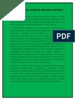 Reportes Componentes Del Sistema de Educación a Distancia