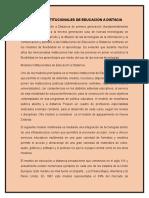 Reporte Modelos Institucionales de Educacion a Distacia