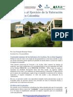 Una Mirada a La Valoracion de Bienes en Colombia