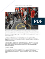 16 Week Conjugate Periodization Program for Novice Powerlifters