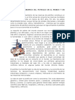 Importancia Economica Del Petroleo en El Mundo y en Venezuela